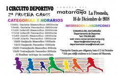 Segunda prueba de cross, puntuable para el I Circuito Deportivo Comarca del Matarraña, el próximo 16 de diciembre en La Fresneda