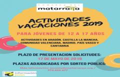 Los jóvenes del Matarraña podrán participar en el programa de  'Actividades vacaciones 2019'