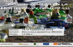 Próximo taller sobre reciclaje para hostelería y comercios en Beceite, el 18 de febrero