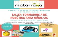 Taller de formador de robótica para niños, el día 14 de abril