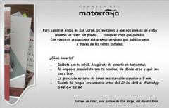 La Comarca del Matarraña celebrará San Jorge a través de las redes sociales