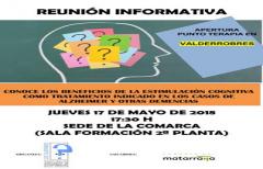 Próxima reunión informativa para la posible apertura de un punto de terapia de estimulación cognitiva en el Matarraña