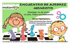 Este domingo, encuentro de ajedrez en Monroyo