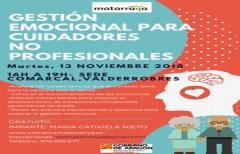 Taller de gestión emocional para cuidadores no profesionales, el día 13