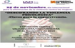 Este viernes, exposición-debate sobre 'Violencia psicológica', en Valjunquera, para conmemorar el Día Internacional para la eliminación de la violencia contra las mujeres