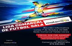 Reunión informativa para crear una liga comarcal de fútbol sala, el lunes 07 de octubre