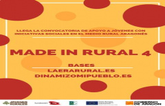 Se inicia la convocatoria 'Made in rural IV' para jóvenes del medio rural