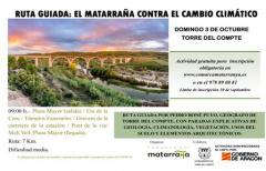 Ruta guiada 'El Matarraña contra el cambio climático' en Torre del Compte, el 03 de octubre