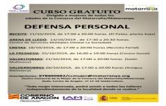 Taller de defensa personal para mujeres, en octubre, en varias poblaciones de la comarca