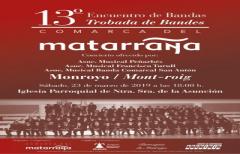 El XIII Encuentro de Bandas se celebrará el 23 de marzo en Monroyo