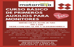 Curso de primeros auxilios para monitores de tiempo libre, el 12 de junio en la sede de la Comarca en Valderrobres