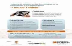 Los días 8 y 10 de mayo, se celebrará un taller de 'uso de tablets' en Mazaleón