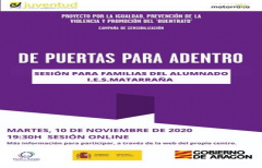 'De puertas para adentro', un proyecto contra la violencia de género que se desarrollará en el IES Matarraña