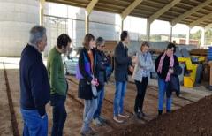 La Directora General de Cambio Climático y Educación Ambiental del Gobierno de Aragón conoce el sistema 'Porta a porta'