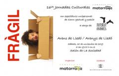 Entrega de premios 'Qüento va, qüento vingue' y mucho teatro en el segundo fin de semana de las Jornadas Culturales del Matarraña