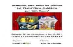 Este sábado, 'La flautika mágica' en Calaceite