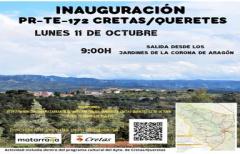 Marcha senderista para inaugurar el nuevo PR de Cretas, el 11 de octubre