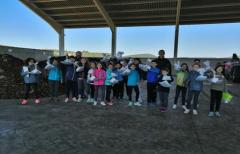 Los alumnos de 5º de Primaria del colegio de Valderrobres mejoran sus conocimientos sobre reciclaje en la planta de compostaje comarcal