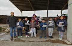 Los alumnos del colegio de Ráfales visitan la planta de compostaje comarcal