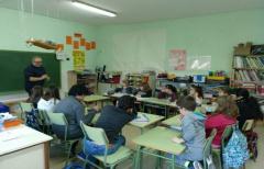 Talleres de reciclaje en el colegio de La Portellada