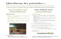 La Comarca celebrará mañana el día de San Jorge con la actividad 'Quedaran les paraules' en La Portellada