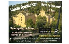 Salida senderista a 'Lo Convent' el domingo 30 de mayo