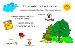 Este domingo se celebrará en Torre de Arcas, la actividad 'El secreto de los árboles'
