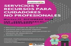 Taller de servicios y recursos para cuidadores no profesionales, el 11 de diciembre en la sede de Valderrobres