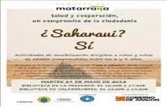 Taller sobre la situación del pueblo saharaui, próximamente en La Fresneda y Valderrobres
