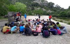 Los escolares del CRA Alifara y el CRA Matarraña participan en el Taller de interpretación del paisaje fluvial