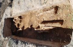 Encontrados restos humanos en las tumbas altomedievales del 'Clot de la Vall de la Avena en Mazaleón'