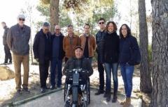 Inaugurada la adecuación parcial de la 'Ruta de los túmulos funerarios ibéricos del Matarraña' accesible con ayuda para minusválidos en silla de ruedas, realizada por la Comarca del Matarraña/Matarranya