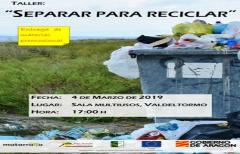 Próximos talleres 'Separar para reciclar' en Valdeltormo y Valderrobres