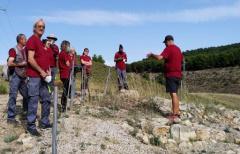Los alumnos del Taller de Empleo 'Matarraña Arqueológico' visitan el Centro de Íberos en el Bajo Aragón, así como la necrópolis y parque arqueológico 'El Cabo' de Andorra