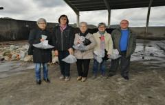 Los vecinos de Cretas visitan la planta de compostaje comarcal de Peñarroya de Tastavins
