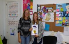 Voluntarias europeas participan en la creación de proyectos comarcales
